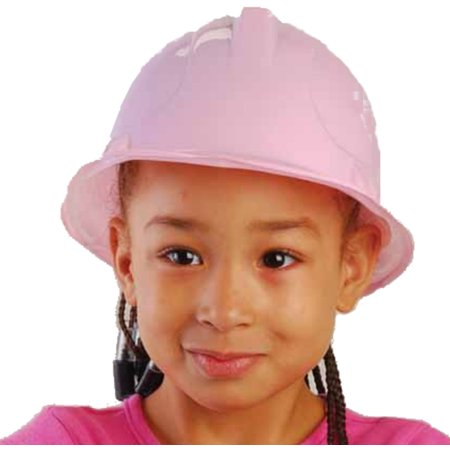 Plastic Pith Helmet (New Set Of 12 Kids Childs Girl's Pink Plastic Construction Costume Hard)