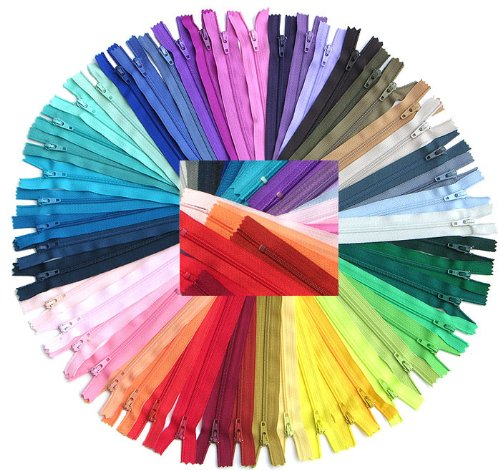 ZipperStop Wholesale Authorized Distributor YKK® #3 Skirt & Dress Zippers 18 Inch ~ Assortment of Colors (25 Zippers) +Custom Printed Ribbon