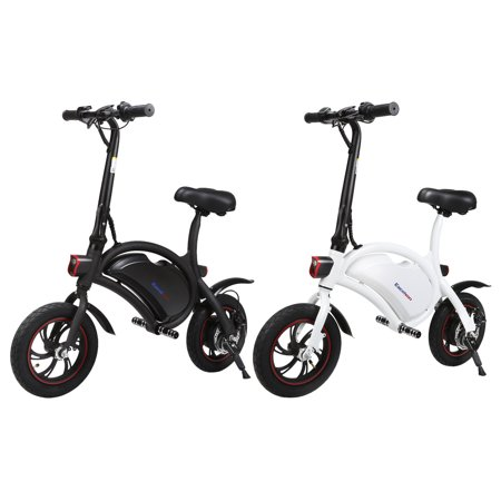 Excelvan Folding E-Bike Collapsible Electric Bike with High-Torque 250W Motor and Dual Disc Brakes, Maximum speed 20km/h, 12'' Wheels, 20+ Mile