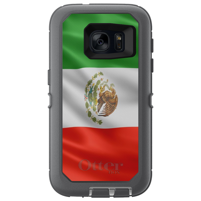 DistinctInk Custom Grey OtterBox Defender Series Case for Samsung Galaxy S7 Red...