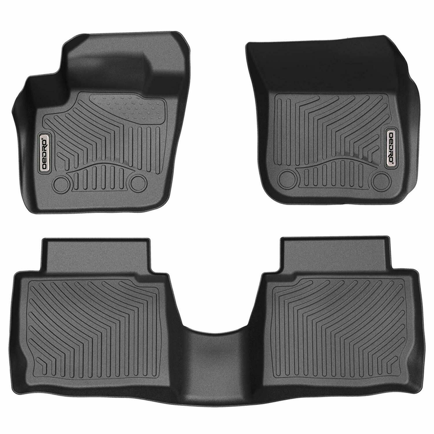 oEdRo All-Weather TPE Floor Mats Fit for 2013-2016 Ford Fusion Floor Liners