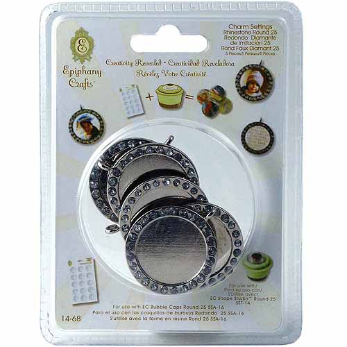 Epiphany Crafts Epiphany Crafts Metal Charm Settings, 5-Pack Multi-Colored