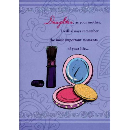 Designer Greetings Makeup Compact and Brush: Daughter Mother's Day