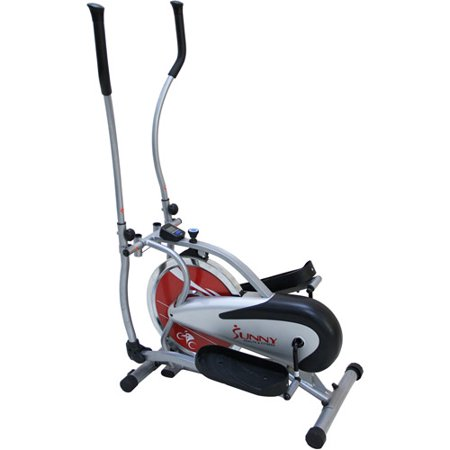 Sunny Health & Fitness SF-E1405 Chain Drive Flywheel Elliptical Trainer Elliptical Machine w/ LCD Monitor