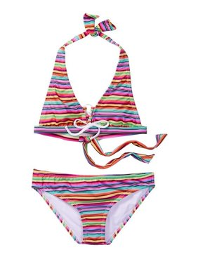 beae88e71a Product Image Azul Little Girls Multi Stripe Machu Pichu 2 Pc Halter Bikini  Swimsuit