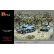 Pegasus 7662 T-34/85 Soviet Battle Tank Set of Two 1/72 Scale Plastic Model Kits