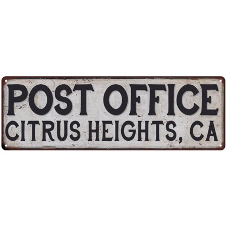Citrus Heights, Ca Post Office Personalized Metal Sign Vintage 6x18