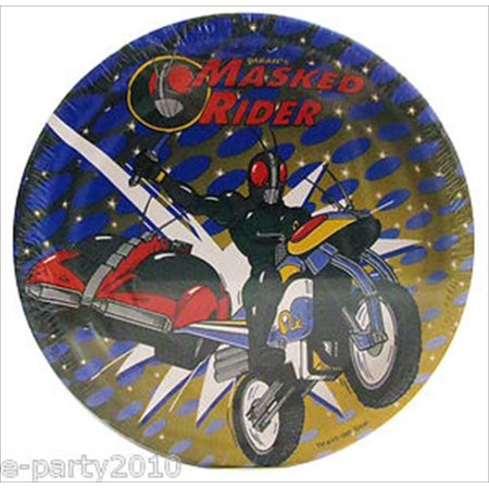Masked Rider Large Paper Plates (8ct)](Halloween Mask Making Paper Plates)