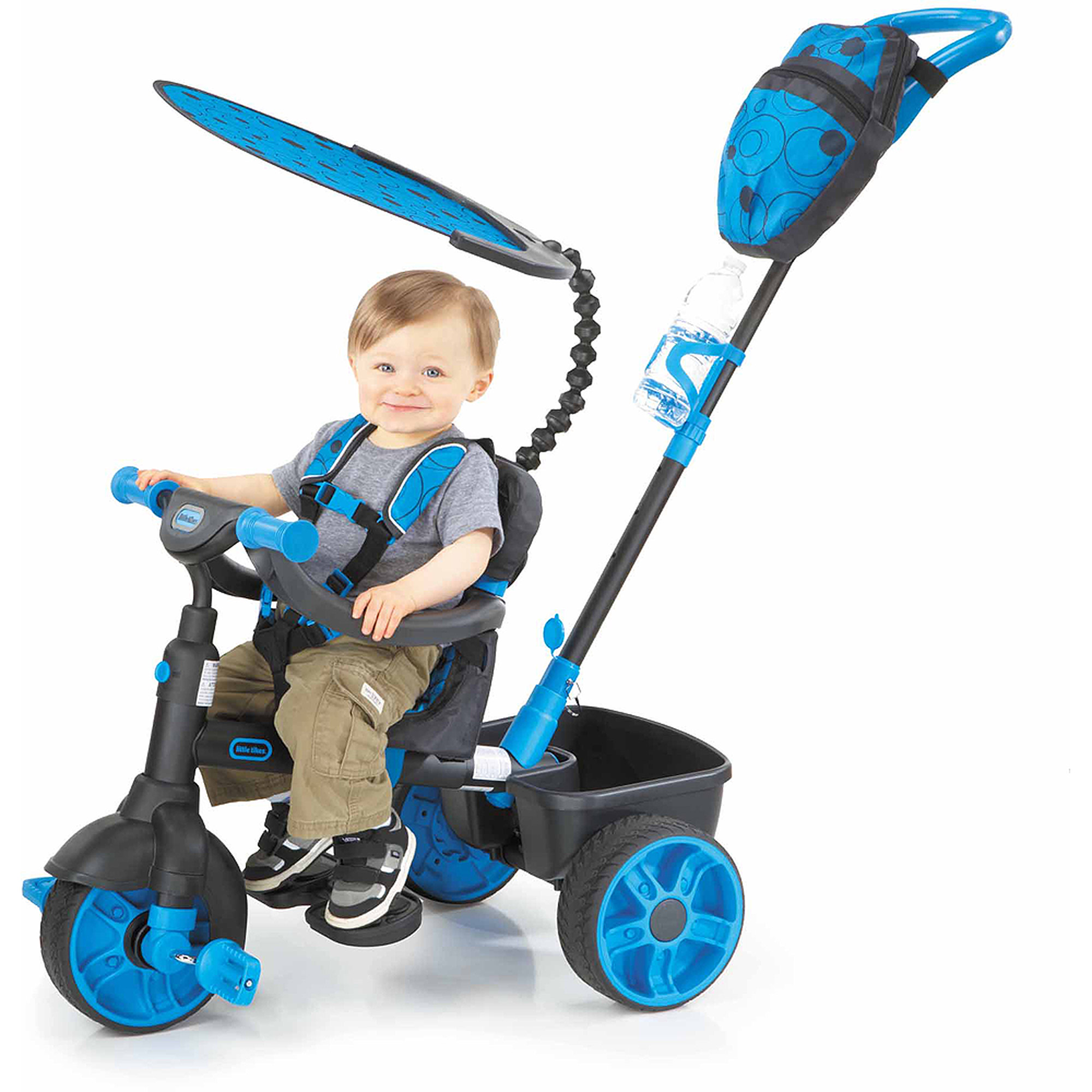 Little Tikes 4-in-1 Deluxe Edition Trike, Neon Blue