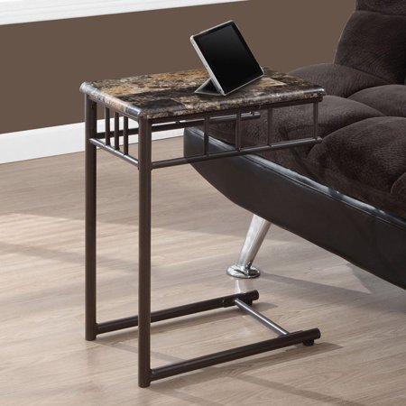 Monarch Accent Table Cappuccino Marble / Bronze Metal Bronze F-series Accent Accent