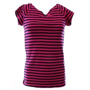 Lauren Ralph Lauren NEW Pink Women's Medium M Striped Scoop Neck Tee Shirt $39