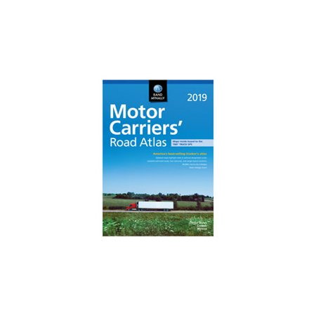 RAND MCNALLY 0528019880 2019 MOTOR CARRIERS     ROAD ATLAS Deluxe Motor Carriers Road Atlas