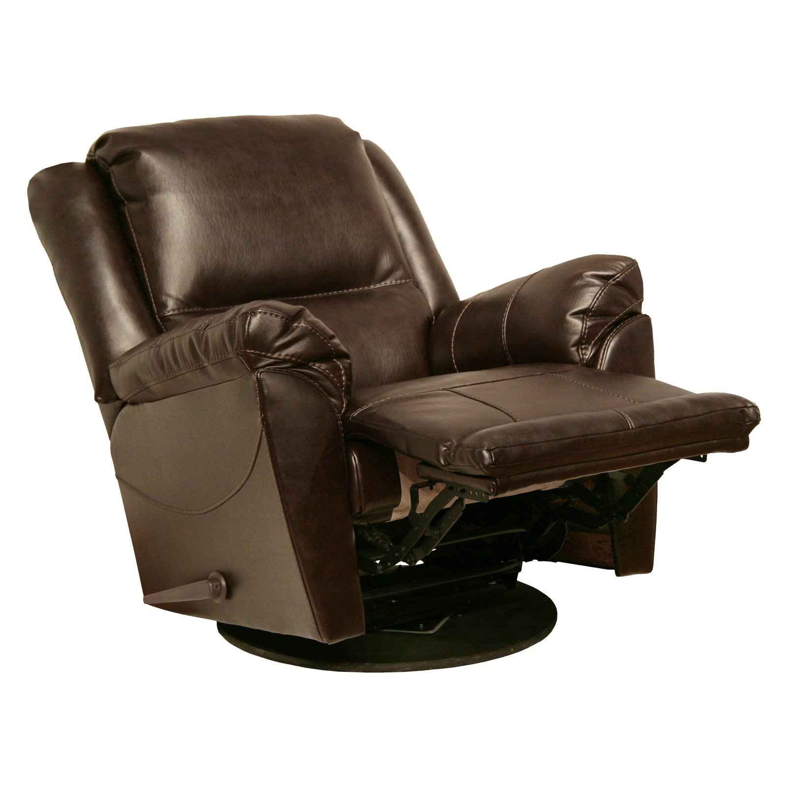 Catnapper Maverick Chaise Leather Swivel Glider Recliner