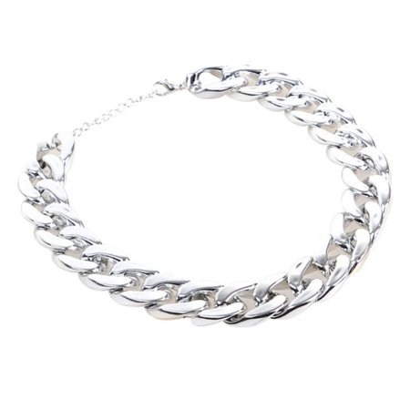 Tinymills Silver Gold Pet Dog Curb Cuban Chain Collar Puppy Necklace For Pitbull Doberman - Puppy Necklace