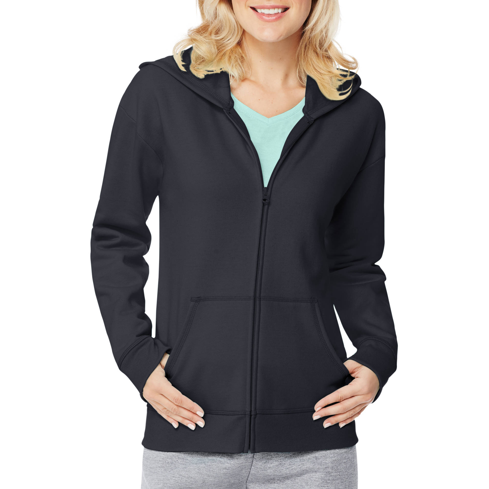 Hanes Women's Fleece Zip Hood Jacket