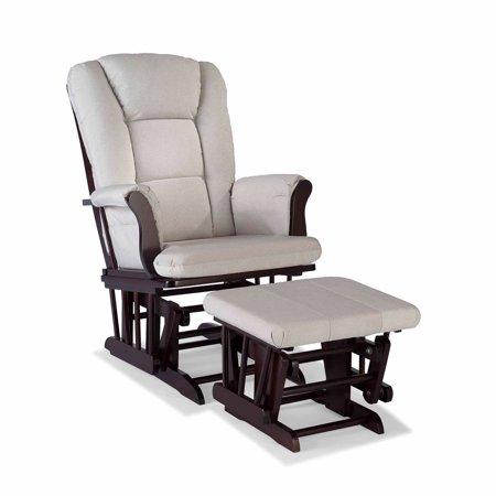 Storkcraft tuscany custom glider and ottoman for Stork craft tuscany glider rocking chair ottoman