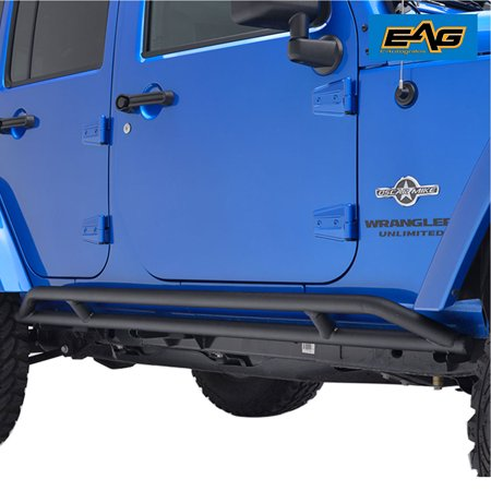 Jeep Wrangler Rocker Panel (EAG Side Armor Rocker Guard Rock Sliders - fits 07-18 Jeep Wrangler JK 4 Door )