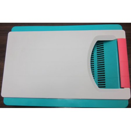 Cutting Board, Handle, Large Removable Strainer. Cut, Slice, Chop and Slide Into the Strainer to Wash. (Cutting Board With Strainer)