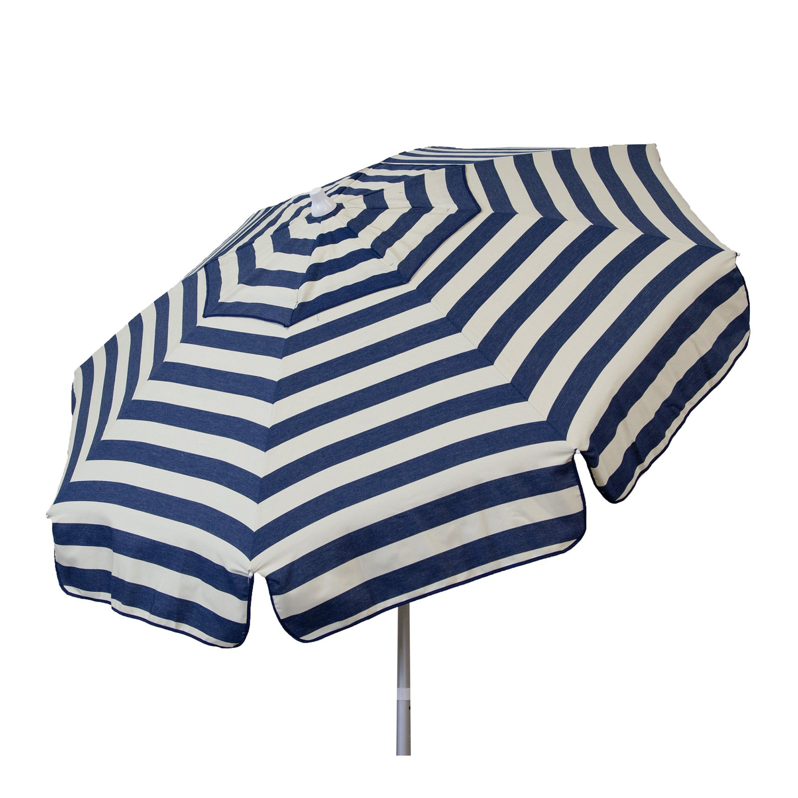 DestinationGear Euro 6' Umbrella Stripe Navy and Vanilla Patio Pole