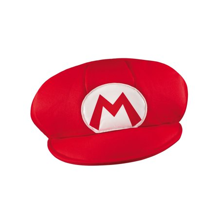 Mario Brothers Mario Hat Adult - Hot Adult