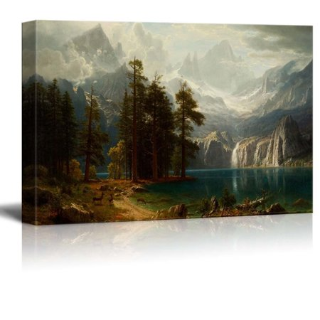 - wall26 Sierra Nevada in California by Albert Bierstadt Giclee Canvas Prints Wrapped Gallery Wall Art, Stretched & Framed Ready to Hang, 16