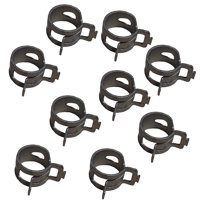 """Rotary Corp 10 Hose Clamps ( Green ) for 1/4"""" ID Fuel Line with 3/8"""" OD"""