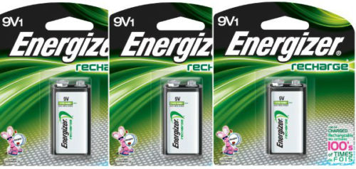 3 Pack Energizer 9V Rechargeable Battery NH22NBP NiMH 8.4V- 175mAh by