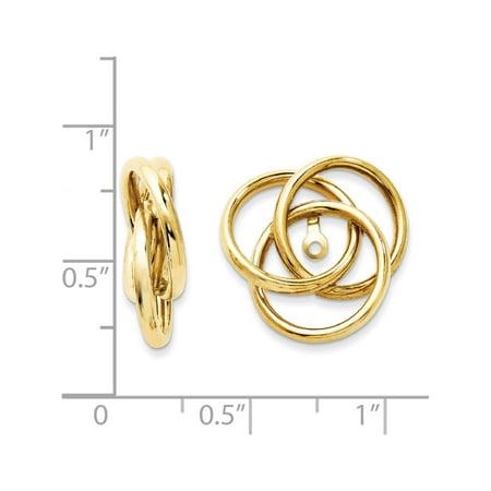 14k or jaune poli amour Vestes Knot (17x16mm) Boucles d'oreilles - image 2 de 3