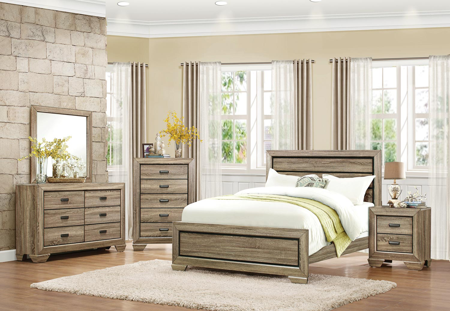 Click here to buy Bainbridge Nightstand Bedroom Furniture in Beechwood.