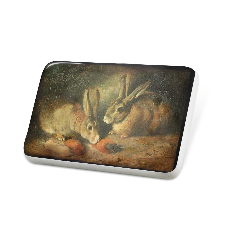 Porcelein Pin Rabbit Bunny Vintage Lapel Badge – NEONBLOND