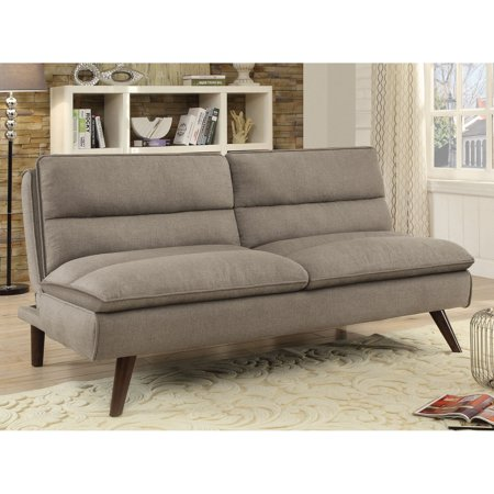 Coaster Company Sofa Bed Taupe With Walnut Legs Walmart Com
