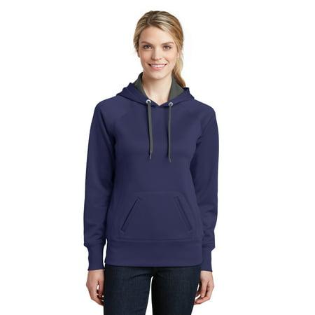 Sport-Tek® Ladies Tech Fleece Hooded Sweatshirt.  Lst250 True Navy Xxl - image 1 de 1