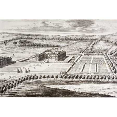 Althorp House Ancestral Home of The Spencer Family Since 16th Century. After An 18th Century Engraving By Jan Kip From Memoirs of The Martyr King By Allan Fea Published 1905 Poster Print, 36 x 24 - image 1 of 1