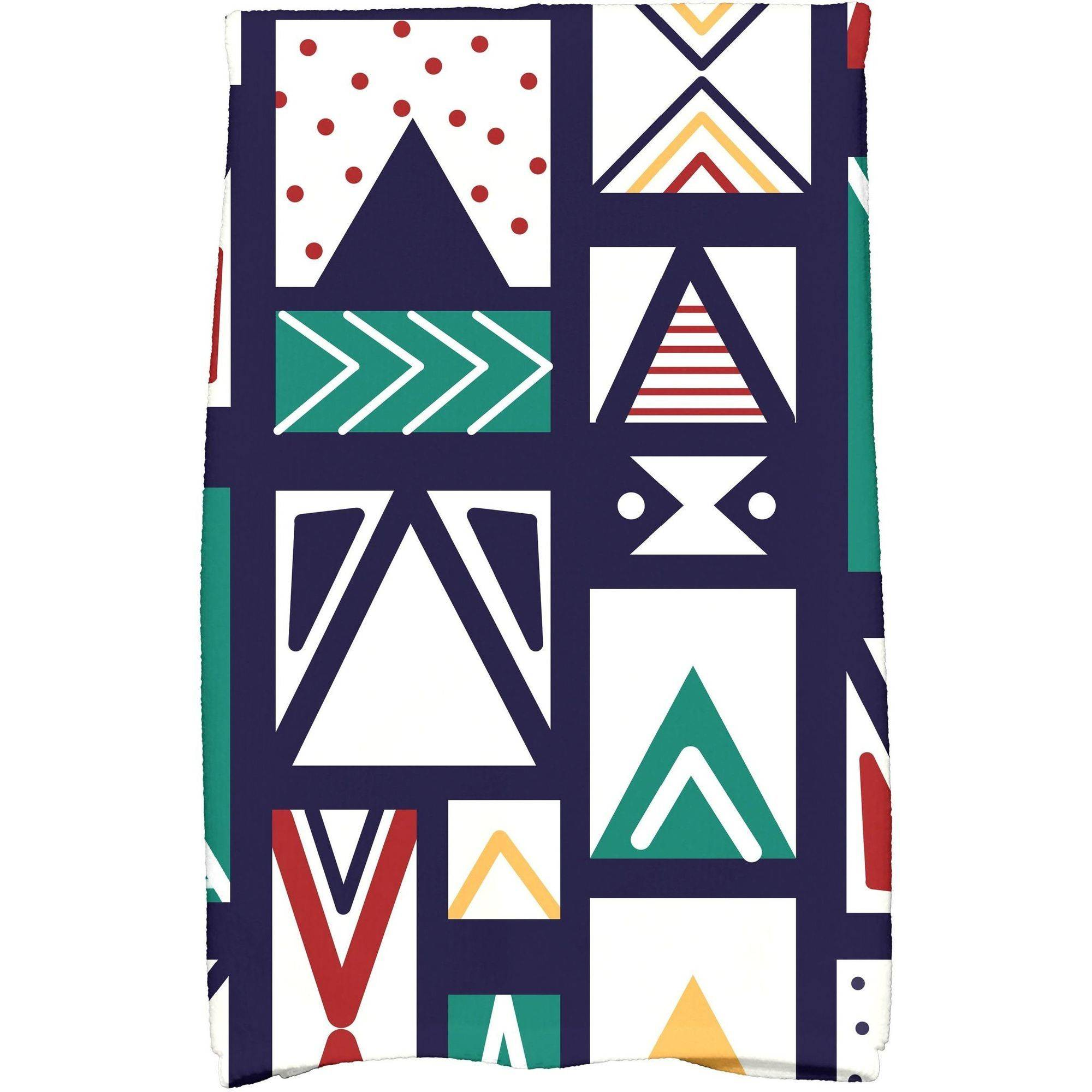 "Simply Daisy 16"" x 25"" Merry Susan Holiday Geometric Print Kitchen Towel"