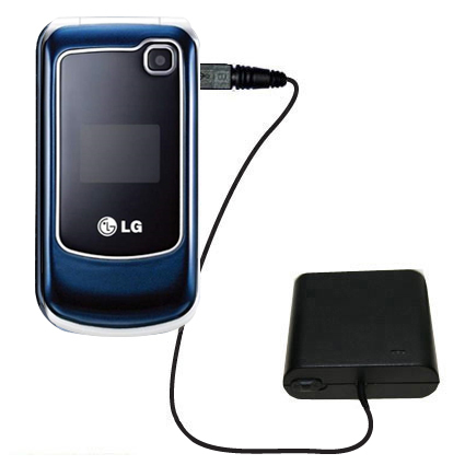 Portable Emergency AA Battery Charger Extender suitable for the LG GB250 - with Gomadic Brand TipExchange Technology