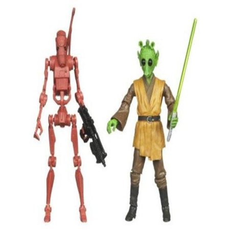 Star Wars 2010 Exclusive Geonosis Arena Showdown Action Figure 2Pack Rodian Jedi Battle Droid #2 of 6