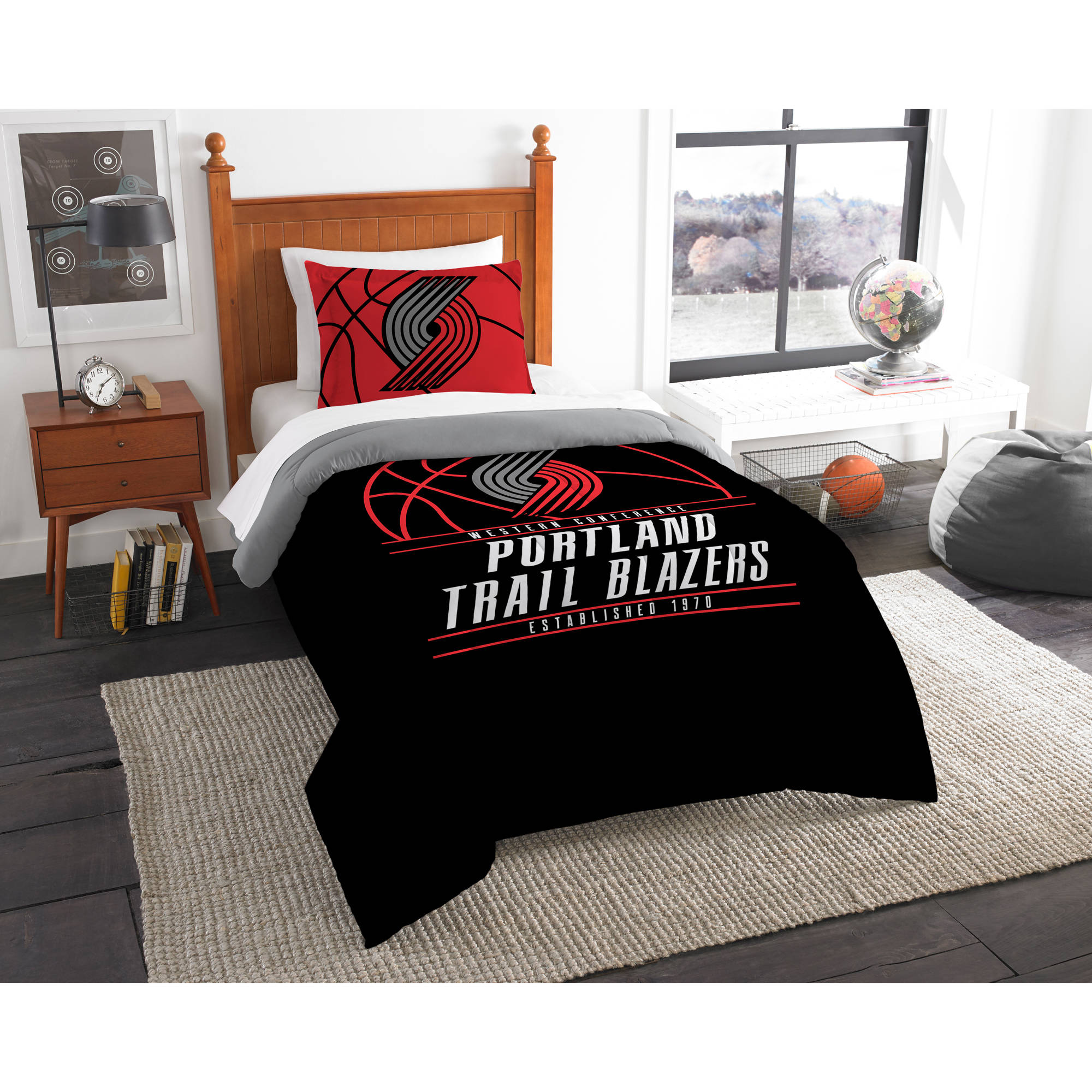 "NBA Portland Trail Blazers ""Reverse Slam"" Bedding Comforter Set"