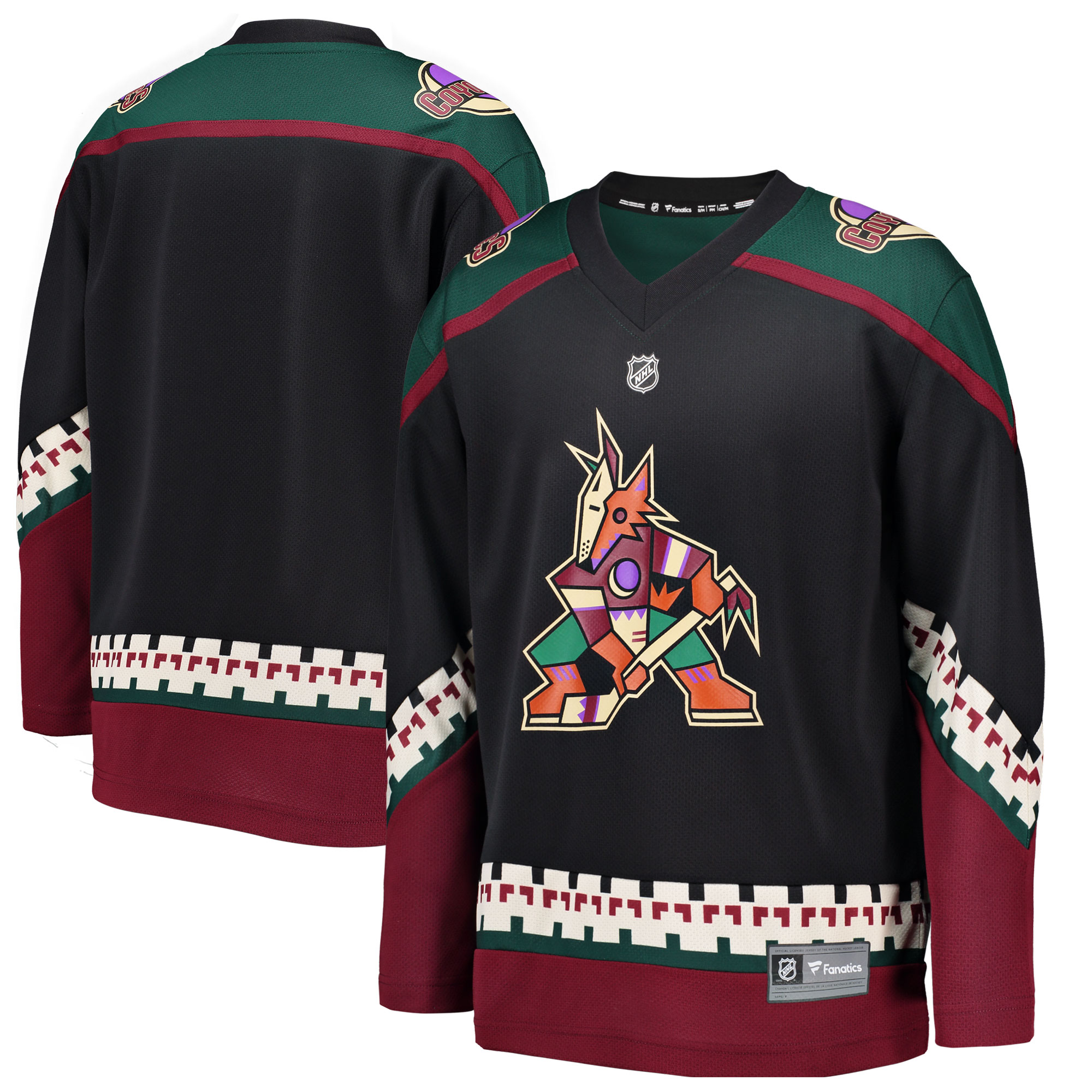 3832d75984a ... sweden arizona coyotes fanatics branded youth alternate breakaway  jersey fc096 9f910