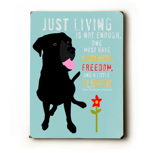 Artehouse LLC Just Living by Ginger Oliphant Graphic Art Plaque