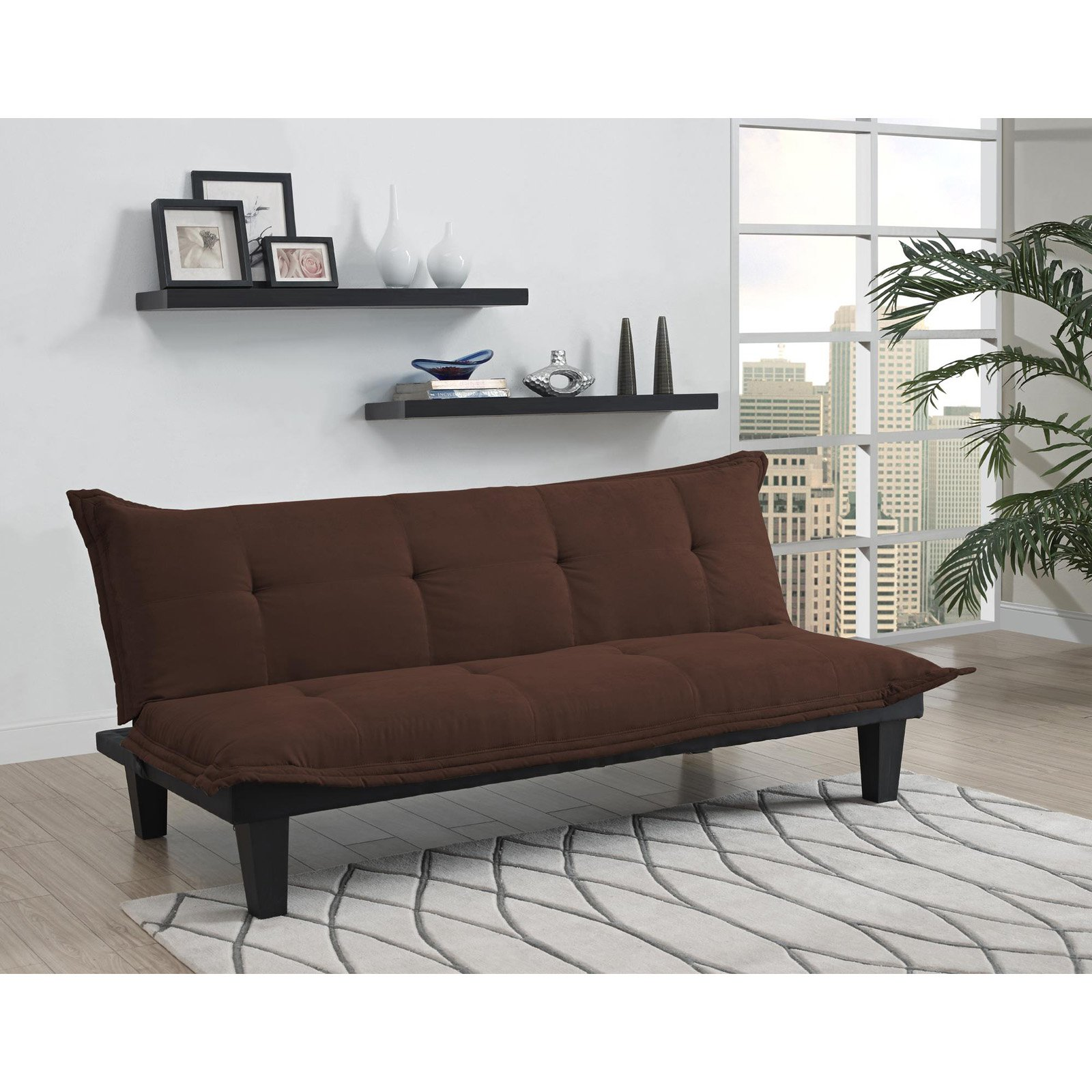 Click here to buy DHP Lodge Tufted Upholstery Futon Couch, Multiple Colors by Dorel Home Products.