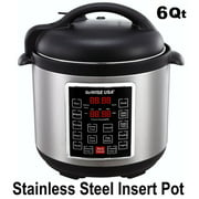 GoWISE USA GW22620 4th-Generation Electric Pressure Cooker with steam rack, steam basket, rice