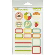 Summertime Cardstock Stickers-Little Labels