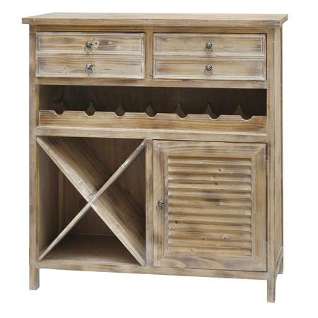 Jackson 2 Drawer Weathered Oak Wine (Amish Oak Wine Cabinet)