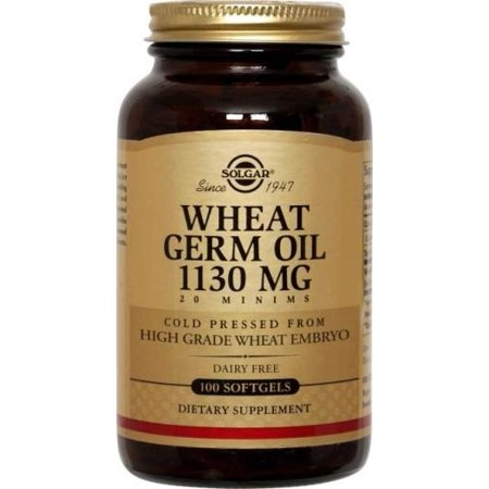 Solgar Wheat Germ Oil 1130 mg Softgels, 100 Ct