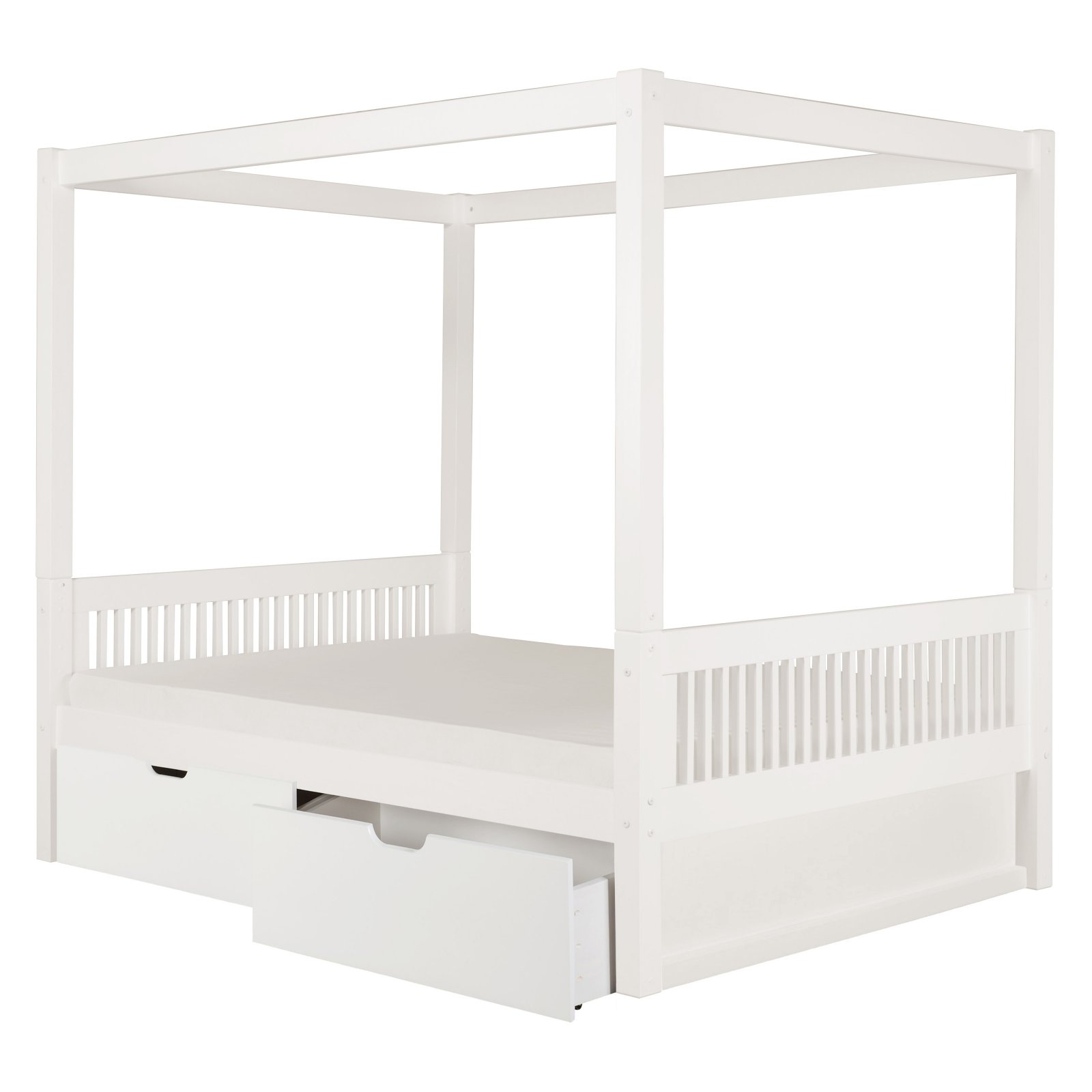Camaflexi Full Canopy Bed with Mission Headboard by Eco-Flex