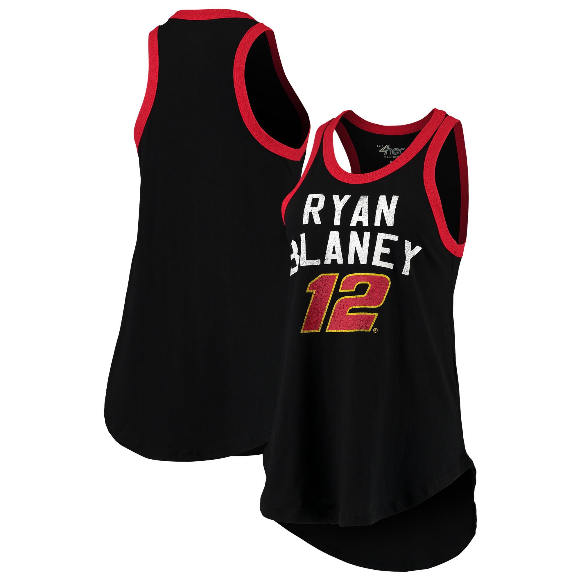 Ryan Blaney G-III 4Her by Carl Banks Women's Training Day Tank Top - Black
