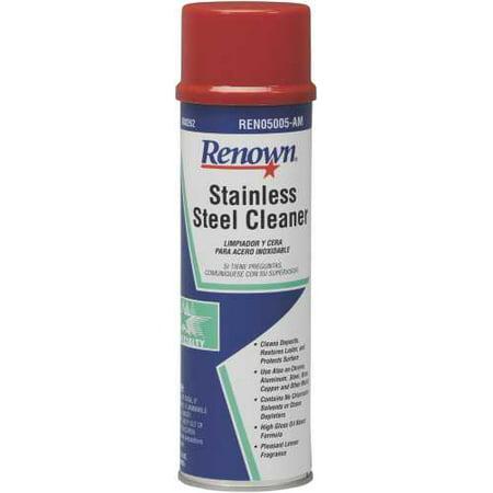RENOWN STAINLESS STEEL CLEANER - OIL BASED AEROSOL  15OZ CAN per 4 (Based Aerosol)