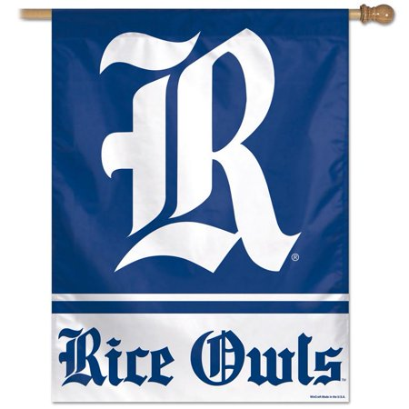 (Rice University Owls Vertical Outdoor House Flag)