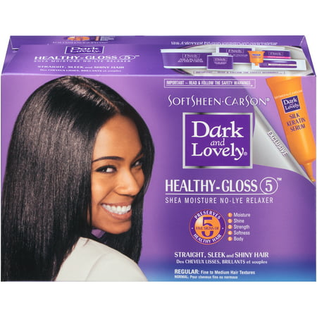SoftSheen-Carson Dark and Lovely Healthy Gloss 5 Shea Moisture No Lye Relaxer - Regular Strength (African Pride Relaxer Kit)