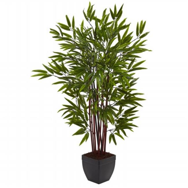 Nearly Natural 5457 4 ft.  Bamboo Silk Tree With Planter